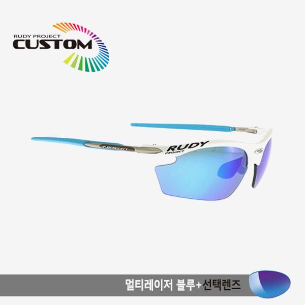루디프로젝트 RUDY PROJECT/라이돈 커스텀 화이트레이싱 스카이팁/멀티레이저 블루+추가렌즈/SN793924SY/RYDON CUSTOM/MULTI LASER BLUE+BONUS LENS