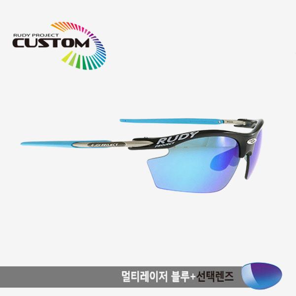 루디프로젝트 RUDY PROJECT/라이돈 커스텀 블랙레이싱 스카이팁/멀티레이저 블루+추가렌즈/SN793942SY/RYDON CUSTOM/MULTI LASER BLUE+BONUS LENS