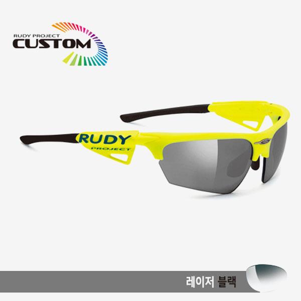 루디프로젝트 RUDY PROJECT/노이즈 커스텀 옐로우플루오 레이싱프로 블랙팁/레이저 블랙/SP040967BK/NOYZ LASER BLK