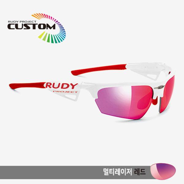 루디프로젝트 RUDY PROJECT/노이즈 커스텀 화이트 레이싱 프로 레드팁/멀티레이저 레드/SP043869RD/NOYZ MULTI LASER RED