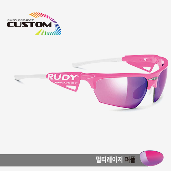 루디프로젝트 RUDY PROJECT/노이즈 커스텀 핑크 레이싱 프로 화이트팁/멀티레이저 레드/SP043877WT/NOYZ MULTI LASER RED