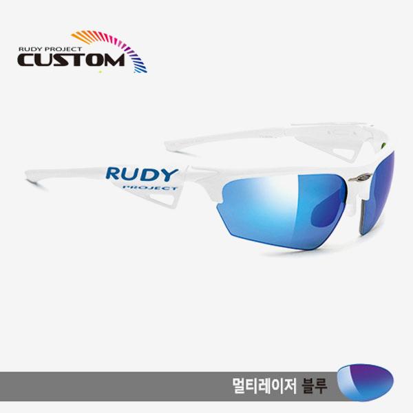 루디프로젝트 RUDY PROJECT/노이즈 커스텀 화이트 레이싱 프로 화이트팁/멀티레이저 블루/SP043969BWT/NOYZ MULTI LASER BLUE