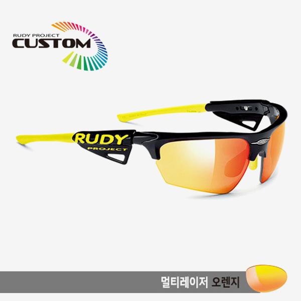 루디프로젝트 RUDY PROJECT/노이즈 커스텀 블랙 레이싱 프로 옐로우팁/멀티레이저 오렌지/SP044042YL/NOYZ MULTI LASER ORANGE