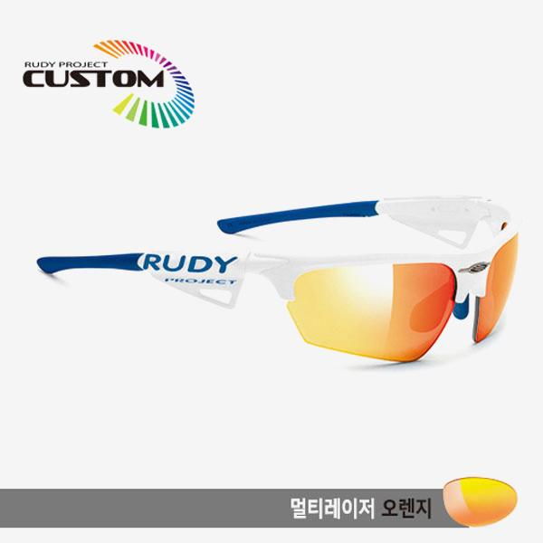 루디프로젝트 RUDY PROJECT/노이즈 커스텀 화이트 레이싱 프로 블루팁/멀티레이저 오렌지/SP044069BBU/NOYZ MULTI LASER ORANGE