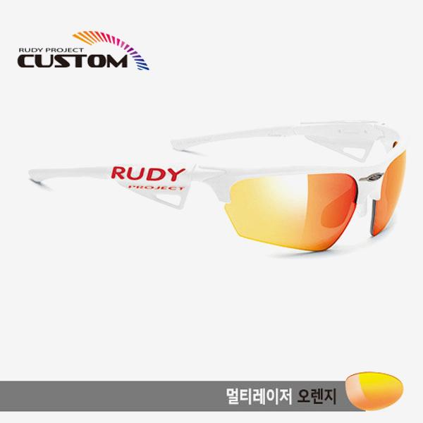 루디프로젝트 RUDY PROJECT/노이즈 커스텀 화이트 레이싱 프로 화이트팁/멀티레이저 오렌지/SP044069WT/NOYZ MULTI LASER ORANGE