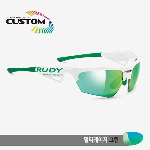 루디프로젝트 RUDY PROJECT/노이즈 커스텀 화이트 레이싱 프로 그린팁/멀티레이저 그린/SP044169GGR/NOYZ MULTI LASER GREEN