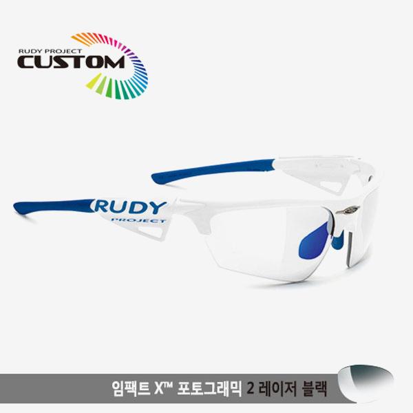 루디프로젝트 RUDY PROJECT/노이즈 커스텀 화이트 레이싱 프로 블루팁/임팩트X2 변색렌즈 레이저 블랙/SP0477869BU/NOYZ IMPACT X PHOTOCHROMIC2 LASER BLK