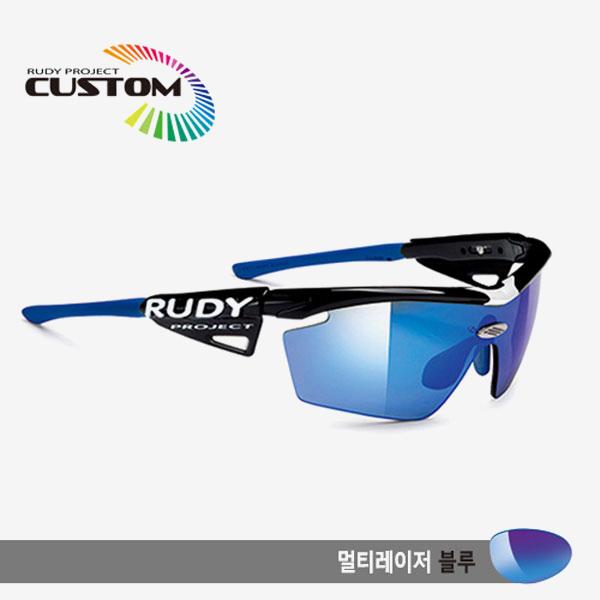 루디프로젝트 RUDY PROJECT/제네틱 커스텀 블랙 레이싱프로 블루팁/멀티레이저 블루/SP113942BU/GENETIC CUSTOM BLK RACING PRO/MULTI LASER BLUE