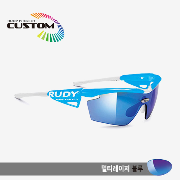 루디프로젝트 RUDY PROJECT/제네틱 커스텀 스카이 레이싱프로 화이트팁/멀티레이저 블루/SP113944WT/GENETIC CUSTOM SKY RACING PRO/MULTI LASER BLUE