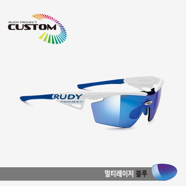 루디프로젝트 RUDY PROJECT/제네틱 커스텀 화이트 레이싱프로 블루팁/멀티레이저 블루/SP113969BBU/GENETIC CUSTOM WHT RACING PRO/MULTI LASER BLUE