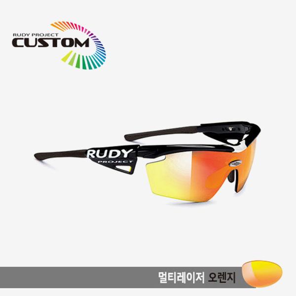 루디프로젝트 RUDY PROJECT/제네틱 커스텀 블랙 레이싱프로 블랙팁/멀티레이저 오렌지/SP114042BK/GENETIC CUSTOM BLK RACING PRO/MULTI LASER ORANGE