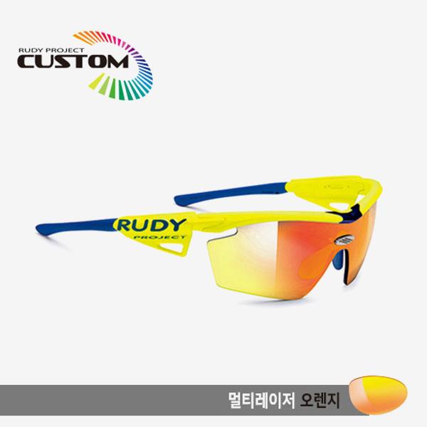 루디프로젝트 RUDY PROJECT/제네틱 커스텀 옐로우 플루오 레이싱프로 블루팁/멀티레이저 오렌지/SP114067BU/GENETIC CUSTOM YELLOW FLUO RACING PRO/MULTI LASER ORANGE
