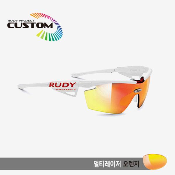 루디프로젝트 RUDY PROJECT/제네틱 커스텀 화이트 레이싱프로 화이트팁/멀티레이저 오렌지/SP114069WT/GENETIC CUSTOM WHT RACING PRO/MULTI LASER ORANGE