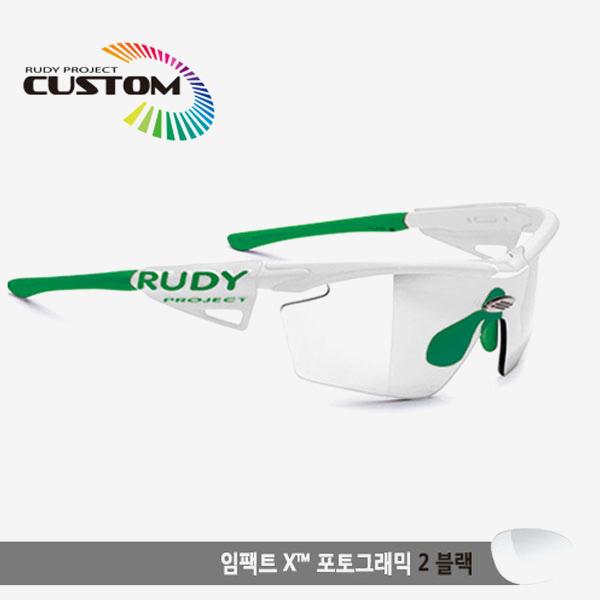 루디프로젝트 RUDY PROJECT/제네틱 커스텀 화이트 레이싱프로/임팩트X 변색렌즈2 블랙/SP117369GGR/GENETIC CUSTOM WHT RACING PRO/IMPACT XPHOTOCHROMIC 2 BLK