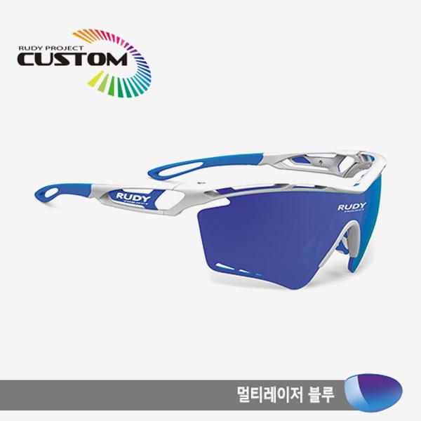 루디프로젝트 RUDY PROJECT/트랠릭스XL 화이트커스텀/멀티레이저 블루/SP393969BUZ/TRALYX XL WHT CUSTOM/MULTI LASER BLUE