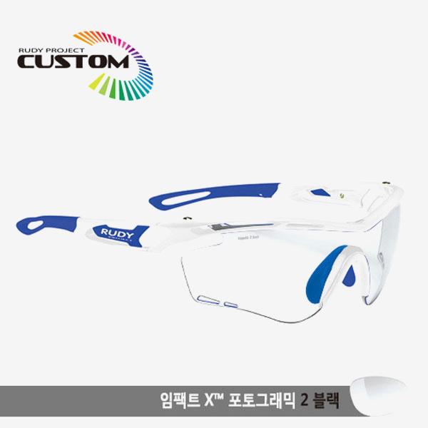 루디프로젝트 RUDY PROJECT/트랠릭스 화이트커스텀/임팩트X변색렌즈2블랙/SP397369BU/TRALYX CUSTOM/IMPACT X PHOTOCHROMIC2 BLK