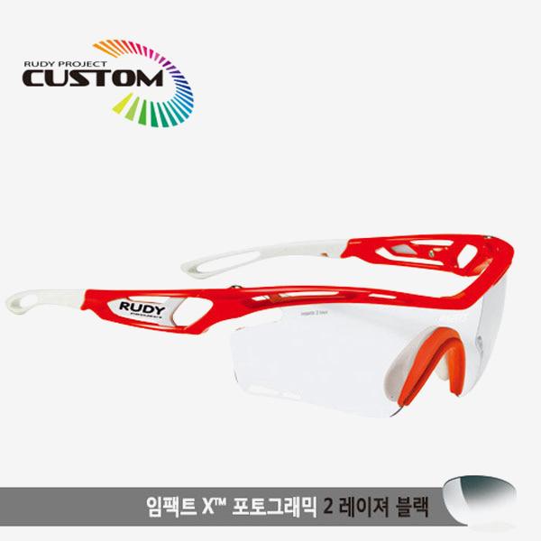 루디프로젝트 RUDY PROJECT/트랠릭스 레드플루오커스텀/임팩트X변색렌즈2레이저블랙/SP397825WT/TRALYX CUSTOM/IMPACT X PHOTOCHROMIC2 LASER BLK