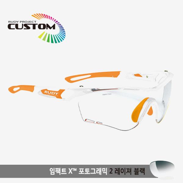 루디프로젝트 RUDY PROJECT/트랠릭스 화이트커스텀/임팩트X변색렌즈2레이저블랙/SP397869OR/TRALYX CUSTOM/IMPACT X PHOTOCHROMIC2 LASER BLK