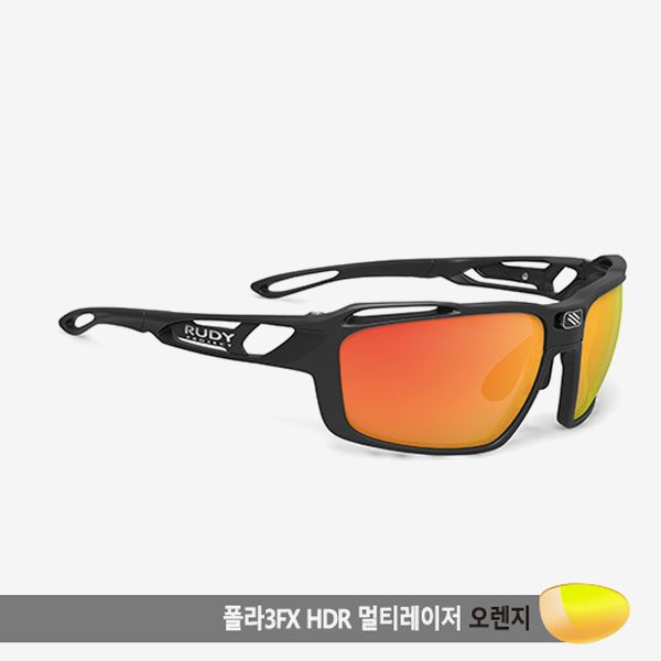 루디프로젝트 RUDY PROJECT/신트릭스 매트 블랙/폴라 3FX HDR 멀티레이저 오렌지 편광렌즈/SP496406-0000/SINTRYX /POLARIZED 3FX HDR MULTI LASER ORANGE