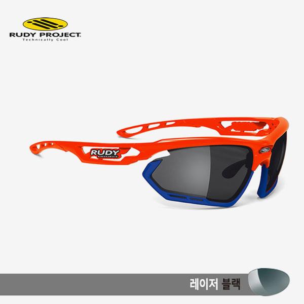 루디프로젝트 RUDY PROJECT/포토닉 커스텀 레드 플루오 글로스/레이저 블랙-블루 범퍼/sp450925bu/FOTONYK CUSTOM RED FLUO GLOSS/LASER BLK-BLUE BUMPER