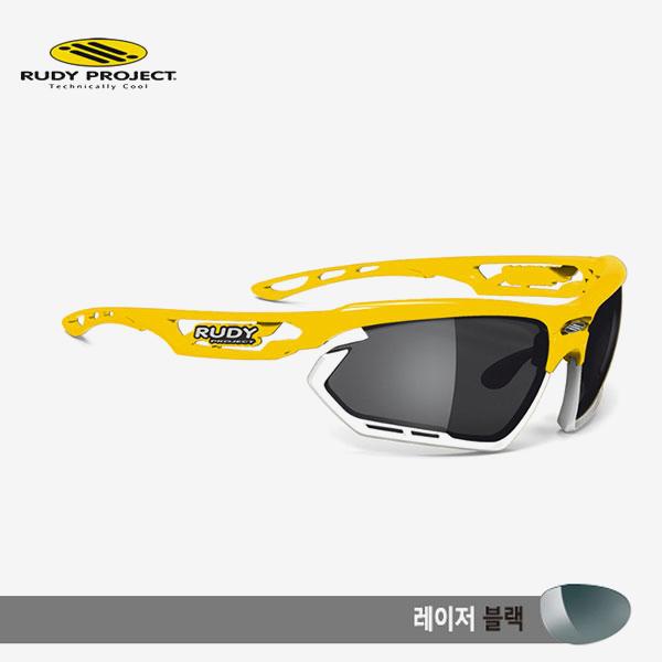 루디프로젝트 RUDY PROJECT/포토닉 커스텀 옐로우 글로스/레이저 블랙-화이트 범퍼/sp450926wt/FOTONYK CUSTOM YELLOW GLOSS/LASER BLK-WHT BUMPER