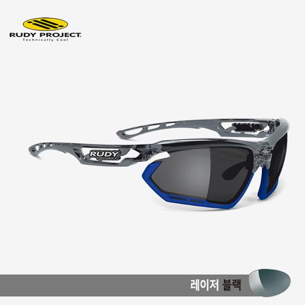 루디프로젝트 RUDY PROJECT/포토닉 커스텀 크리스탈 그라파이트/레이저 블랙-블루 범퍼/sp450995bu/FOTONYK CUSTOM CRYSTAL GRAPHITE/LASER BLK-BLUE BUMPER