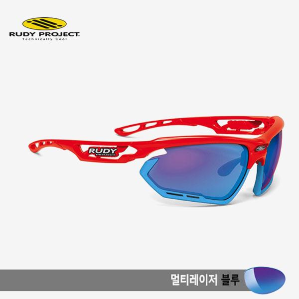 루디프로젝트 RUDY PROJECT/포토닉 커스텀 레드 글로스/멀티레이저 블루-스카이 범퍼 /sp453917sk/FOTONYK CUSTOM RED GLOSS/MULTI LASER BLUE-SKY BUMPER