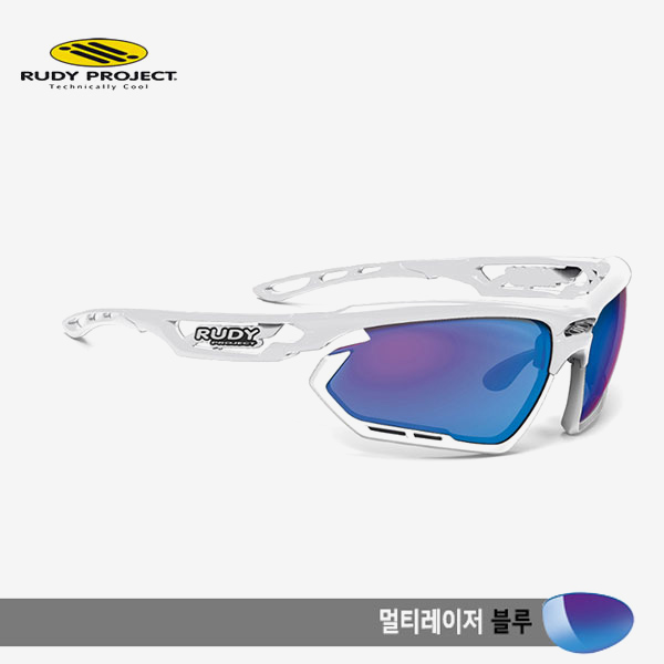 루디프로젝트 RUDY PROJECT/포토닉 커스텀 화이트 글로스/멀티레이저 블루-화이트 범퍼/sp453969wt/FOTONYK CUSTOM WHT GLOSS/MULTI LASER BLUE-WHT BUMPER