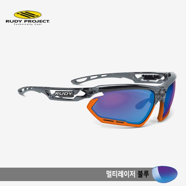 루디프로젝트 RUDY PROJECT/포토닉 커스텀 크리스탈 그라파이트/멀티레이저 블루-오렌지 범퍼/sp453995or/FOTONYK CUSTOM CRYSTAL GRAPHITE/MULTI LASER BLUE-ORANGE BUMPER