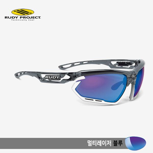 루디프로젝트 RUDY PROJECT/포토닉 커스텀 크리스탈 그라파이트/멀티레이저 블루-화이트 범퍼/sp453995wt/FOTONYK CUSTOM CRYSTAL GRAPHITE/MULTI LASER BLUE-WHT BUMPER