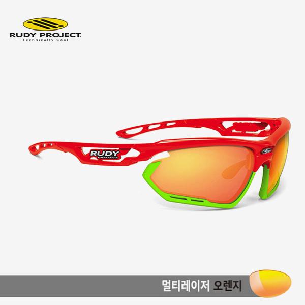 루디프로젝트 RUDY PROJECT/포토닉 커스텀 레드 글로스/멀티레이저 오렌지-라임 범퍼 /sp454017lm/FOTONYK CUSTOM RED GLOSS/MULTI LASER ORANGE-LIME BUMPER