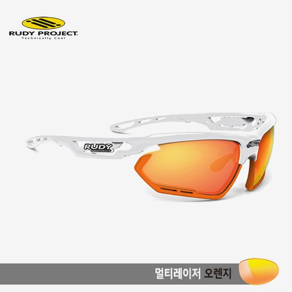 루디프로젝트 RUDY PROJECT/포토닉 커스텀 화이트 글로스/멀티레이저 오렌지-오렌지 범퍼/sp454069or/FOTONYK CUSTOM WHT GLOSS/MULTI LASER ORANGE-ORANGE BUMPER
