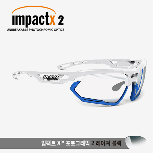 루디프로젝트 RUDY PROJECT/포토닉 커스텀 화이트 글로스/임팩트X2 레이저블랙 미러변색렌즈-블루 범퍼 /sp457869bu/FOTONYK CUSTOM WHT GLOSS/IMPACT X PHOTOCHROMIC2 LASER BLACK-BLUE BUMPER