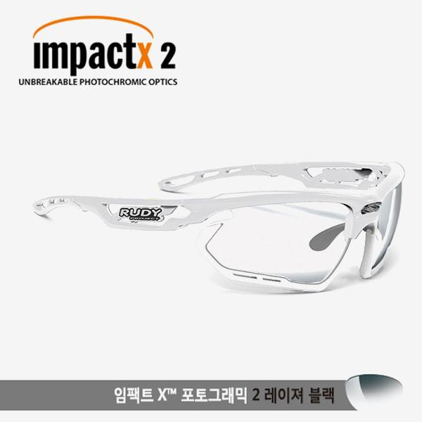 루디프로젝트 RUDY PROJECT/포토닉 커스텀 화이트 글로스/임팩트X2 레이저블랙 미러변색렌즈-화이트 범퍼 /sp457869wt/FOTONYK CUSTOM WHT GLOSS/IMPACT X PHOTOCHROMIC2 LASER BLACK-WHT BUMPER
